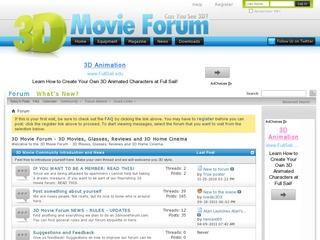 3D Movie Forum