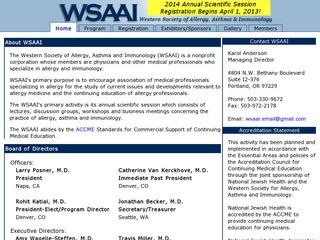 Western Society of Allergy Asthma and Immunology